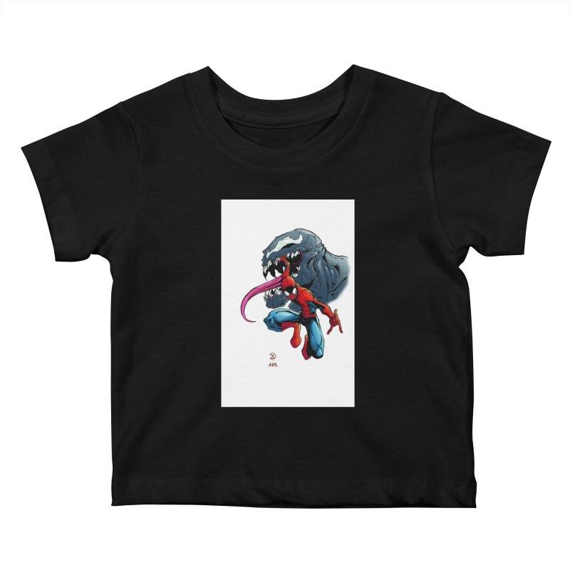 Spiderman w/Venom Kids Baby T-Shirt by Evolution Comics INC