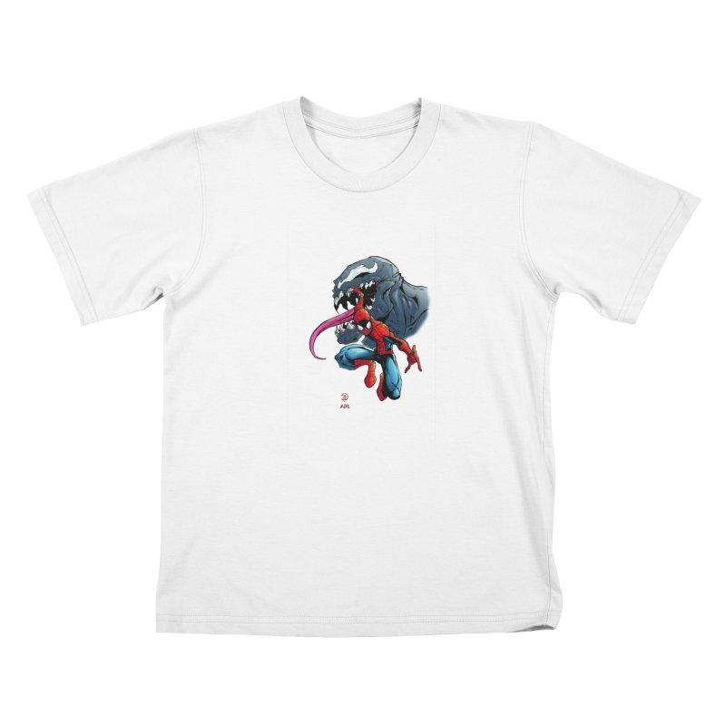 Spiderman w/Venom Kids T-Shirt by Evolution Comics INC