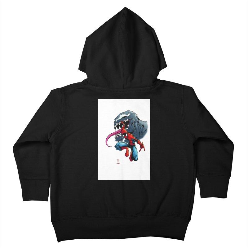Spiderman w/Venom Kids Toddler Zip-Up Hoody by EvoComicsInc's Artist Shop