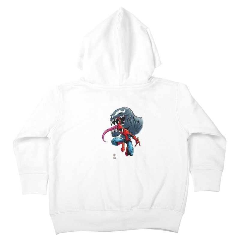 Spiderman w/Venom Kids Toddler Zip-Up Hoody by Evolution Comics INC
