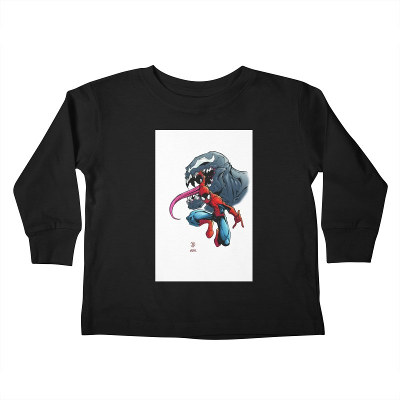 Spiderman w/Venom Kids Toddler Longsleeve T-Shirt by Evolution Comics INC