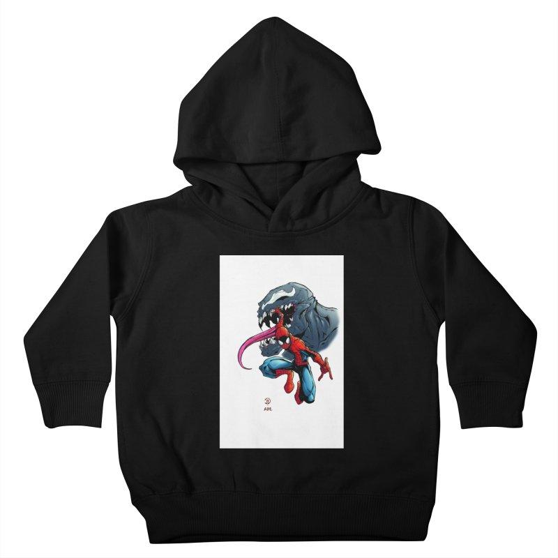 Spiderman w/Venom Kids Toddler Pullover Hoody by EvoComicsInc's Artist Shop