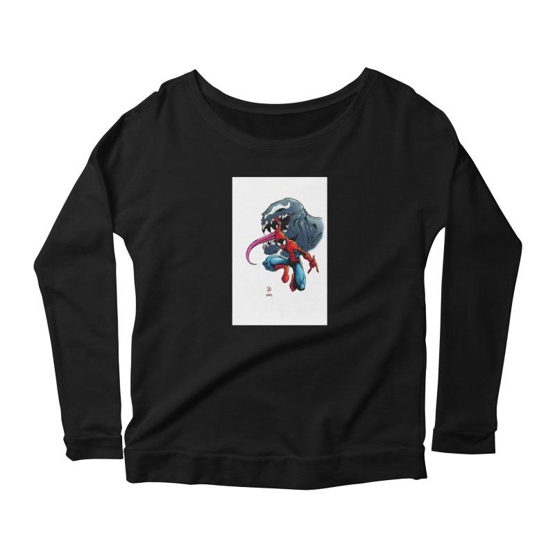 Spiderman w/Venom Women's Longsleeve T-Shirt by Evolution Comics INC