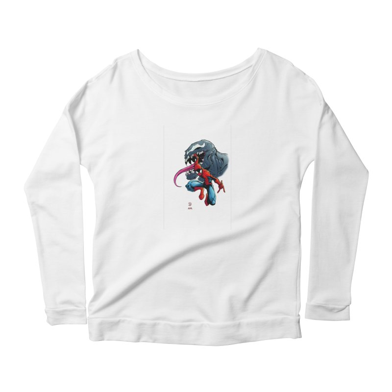 Spiderman w/Venom Women's Longsleeve T-Shirt by Evolution Comics INC