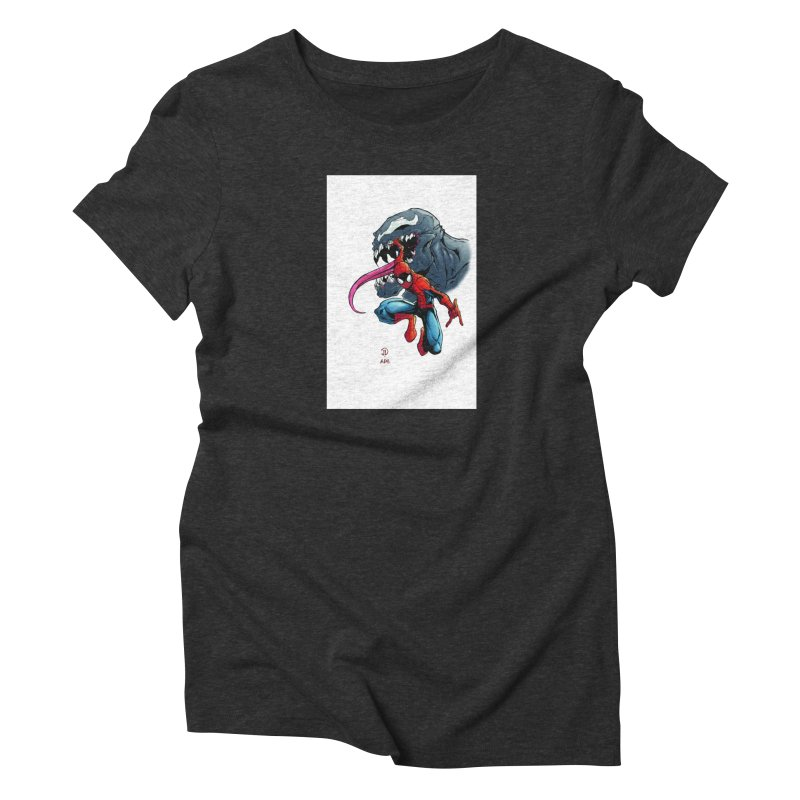 Spiderman w/Venom Women's T-Shirt by Evolution Comics INC