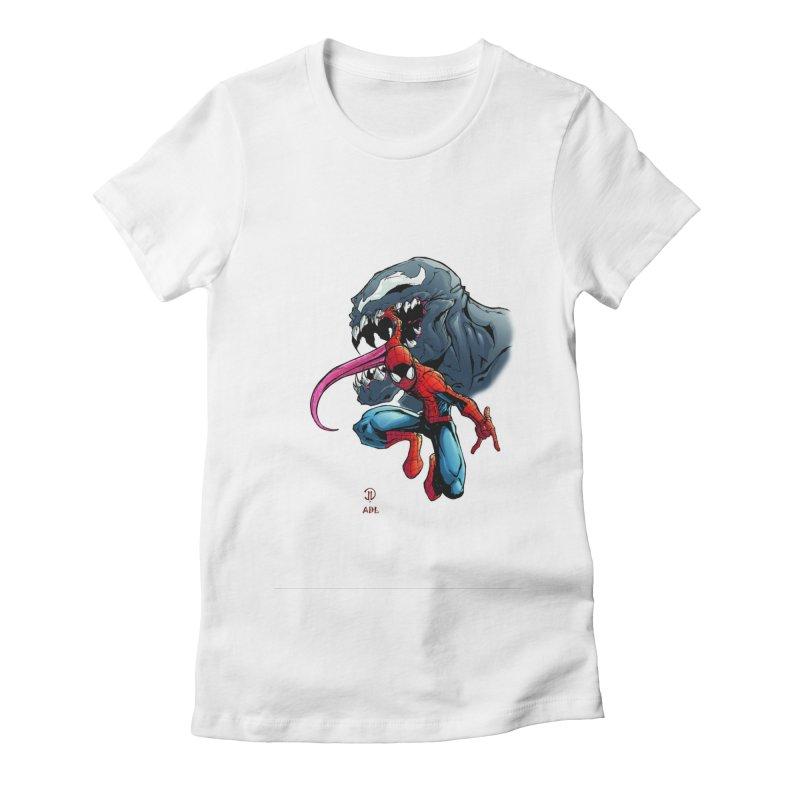 Spiderman w/Venom Women's T-Shirt by Evolution Comics INC