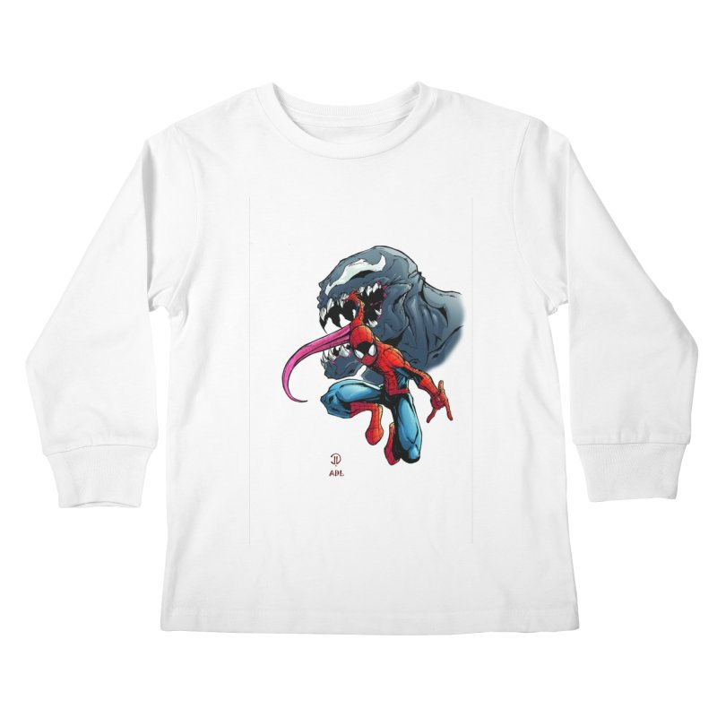 Spiderman w/Venom Kids Longsleeve T-Shirt by Evolution Comics INC