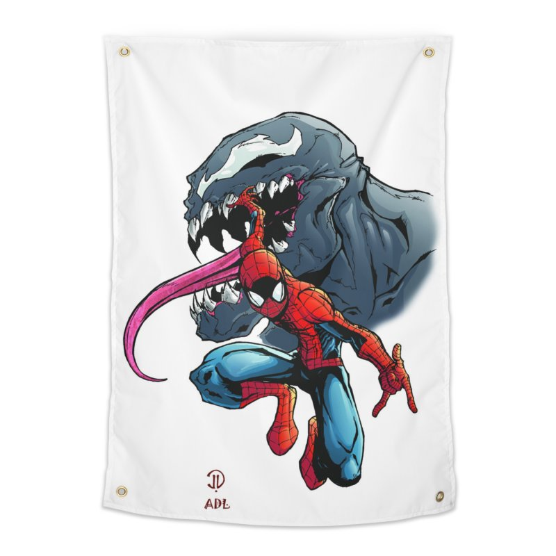 Spiderman w/Venom Home Tapestry by Evolution Comics INC