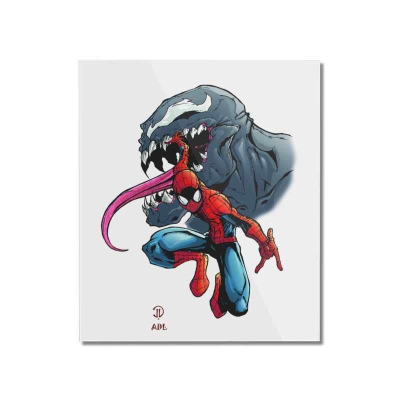 Spiderman w/Venom Home Mounted Acrylic Print by EvoComicsInc's Artist Shop
