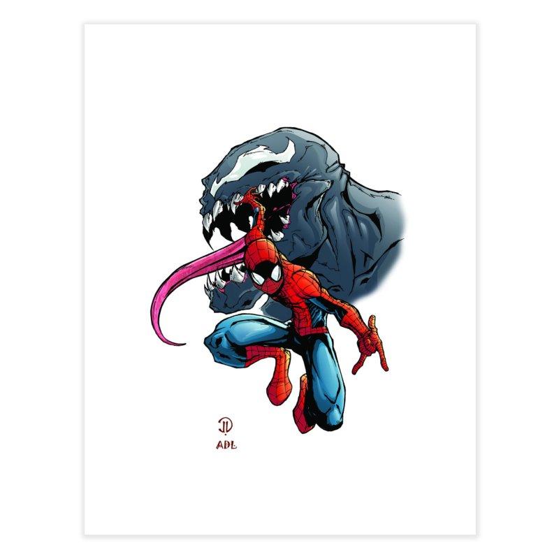 Spiderman w/Venom Home Fine Art Print by Evolution Comics INC