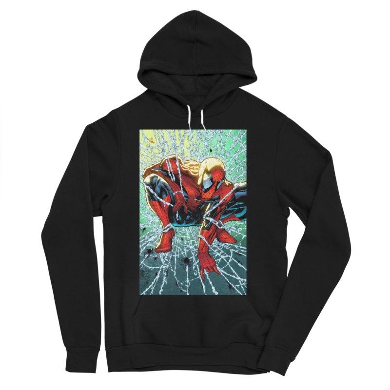 Spiderman Webbing Women's Sponge Fleece Pullover Hoody by EvoComicsInc's Artist Shop
