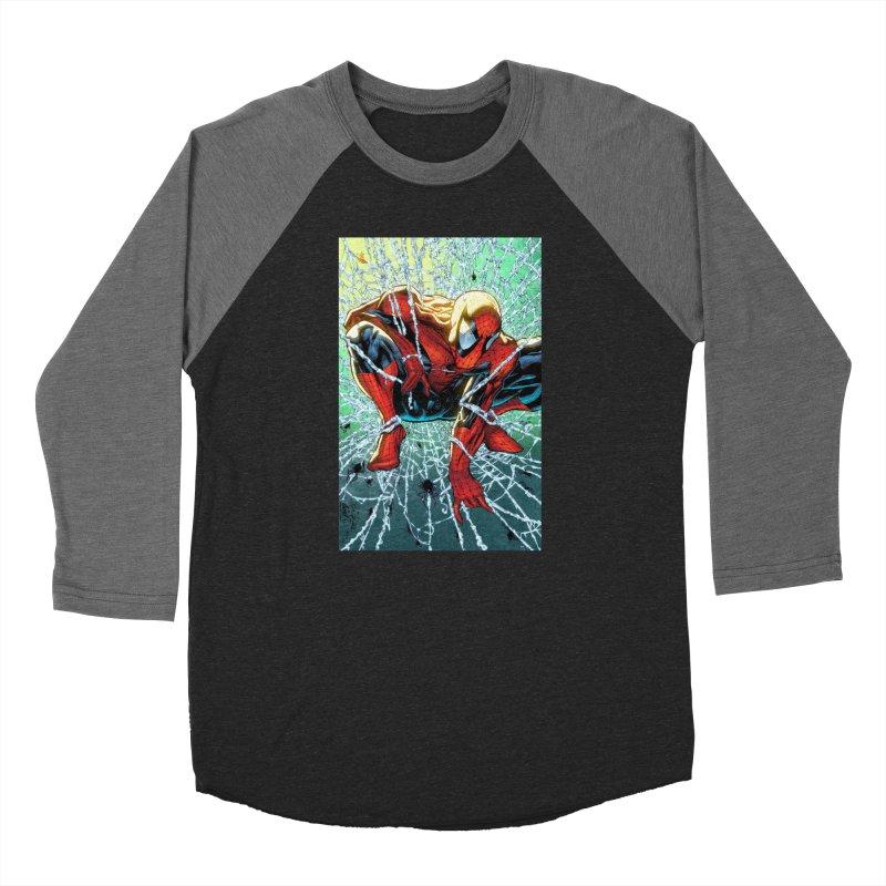 Spiderman Webbing Women's Baseball Triblend Longsleeve T-Shirt by Evolution Comics INC