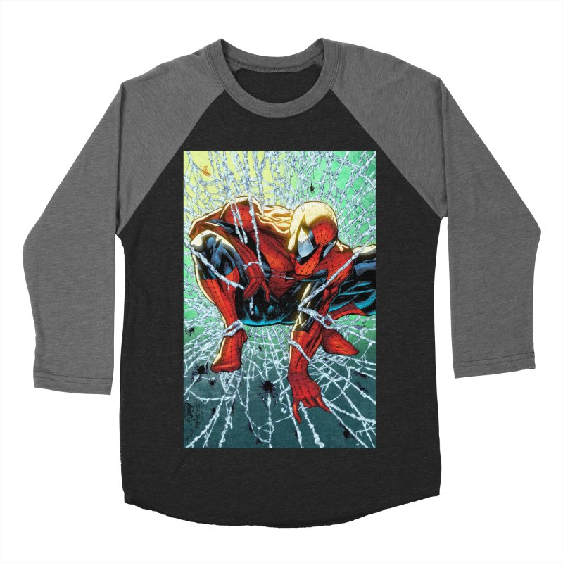 Spiderman Webbing Men's Baseball Triblend Longsleeve T-Shirt by EvoComicsInc's Artist Shop