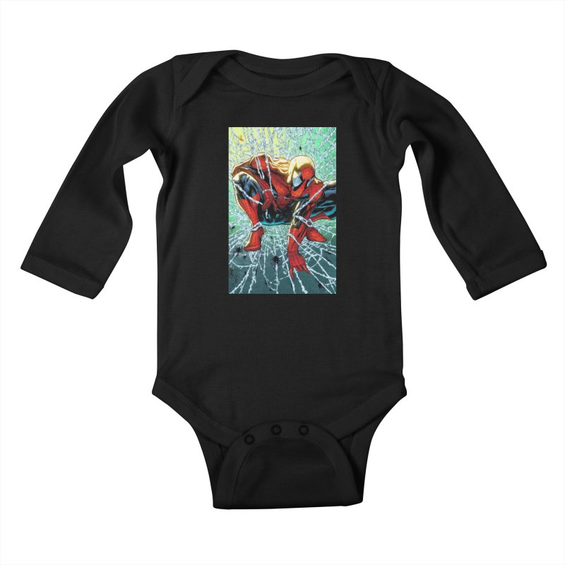Spiderman Webbing Kids Baby Longsleeve Bodysuit by Evolution Comics INC