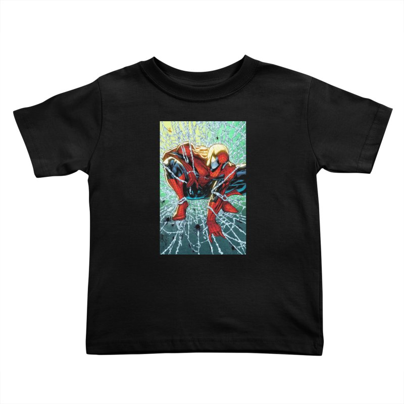 Spiderman Webbing Kids Toddler T-Shirt by Evolution Comics INC