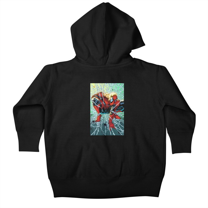 Spiderman Webbing Kids Baby Zip-Up Hoody by Evolution Comics INC
