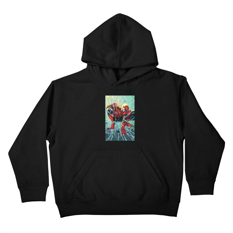 Spiderman Webbing Kids Pullover Hoody by Evolution Comics INC