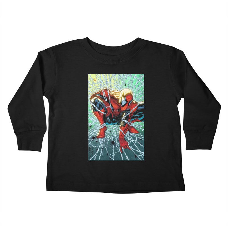 Spiderman Webbing Kids Toddler Longsleeve T-Shirt by EvoComicsInc's Artist Shop