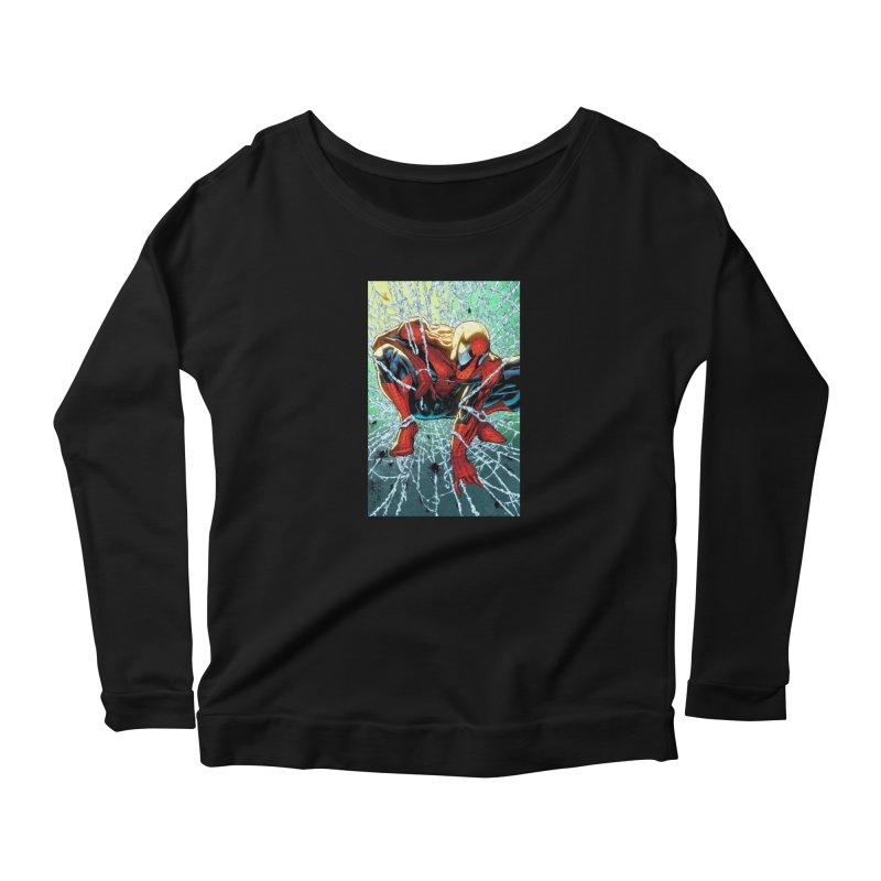 Spiderman Webbing Women's Longsleeve T-Shirt by Evolution Comics INC