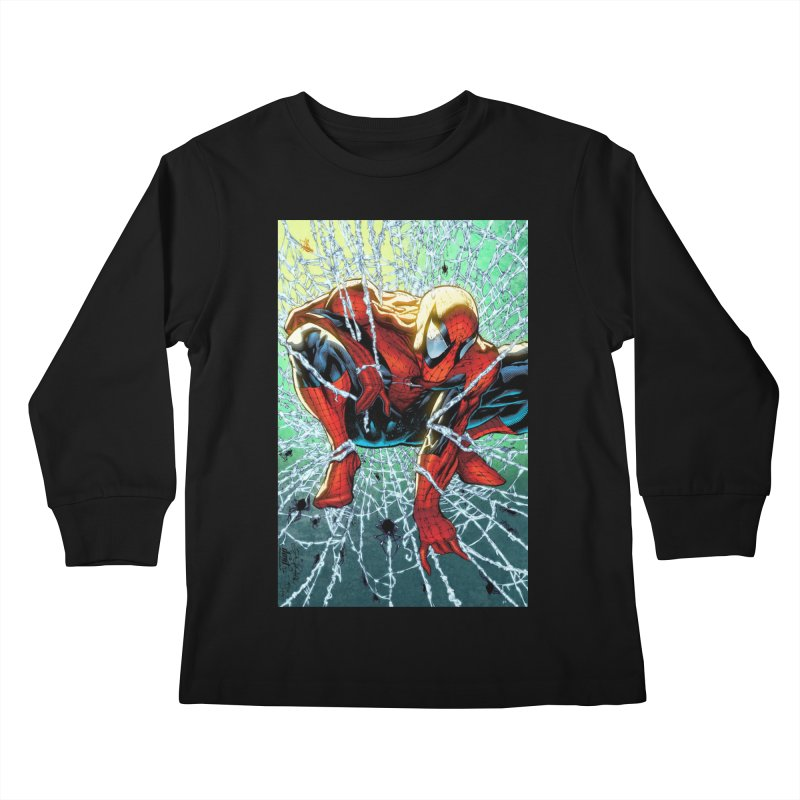 Spiderman Webbing Kids Longsleeve T-Shirt by Evolution Comics INC