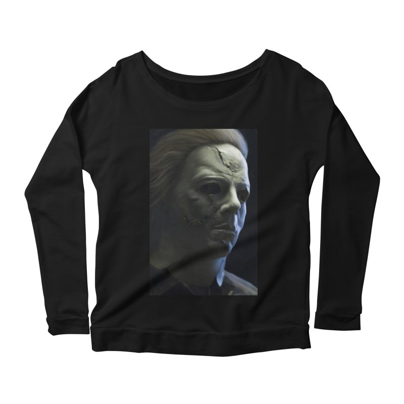 Michael Myers Women's Scoop Neck Longsleeve T-Shirt by EvoComicsInc's Artist Shop