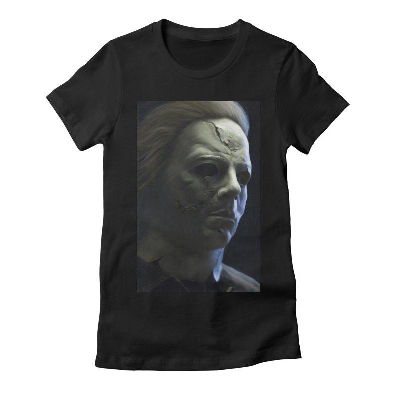 Michael Myers Women's Fitted T-Shirt by EvoComicsInc's Artist Shop
