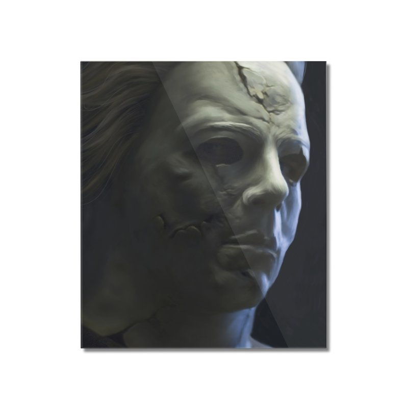 Michael Myers Home Mounted Acrylic Print by EvoComicsInc's Artist Shop