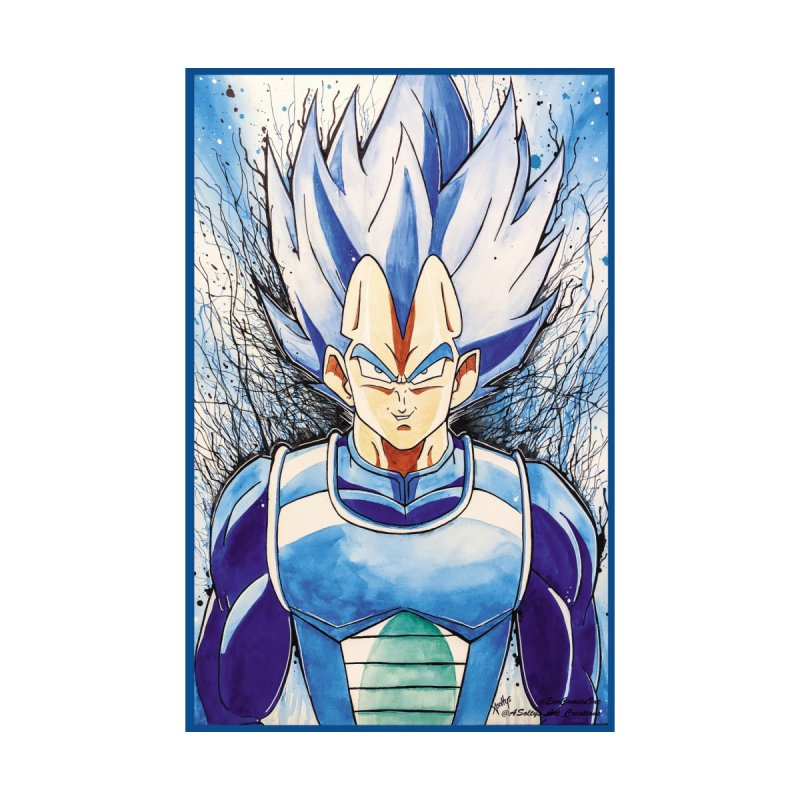 Vegeta Super Saiyan Blue Home Fine Art Print by Evolution Comics INC