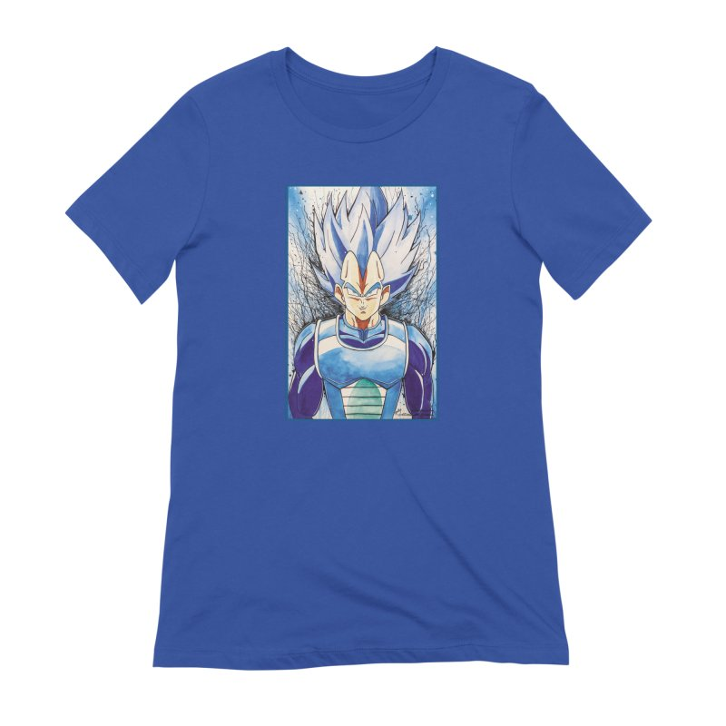 Vegeta Super Saiyan Blue Women's T-Shirt by Evolution Comics INC
