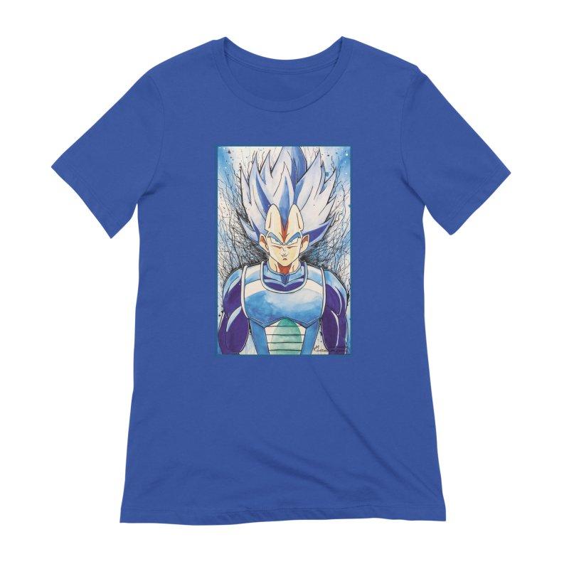 Vegeta Super Saiyan Blue Women's Extra Soft T-Shirt by EvoComicsInc's Artist Shop