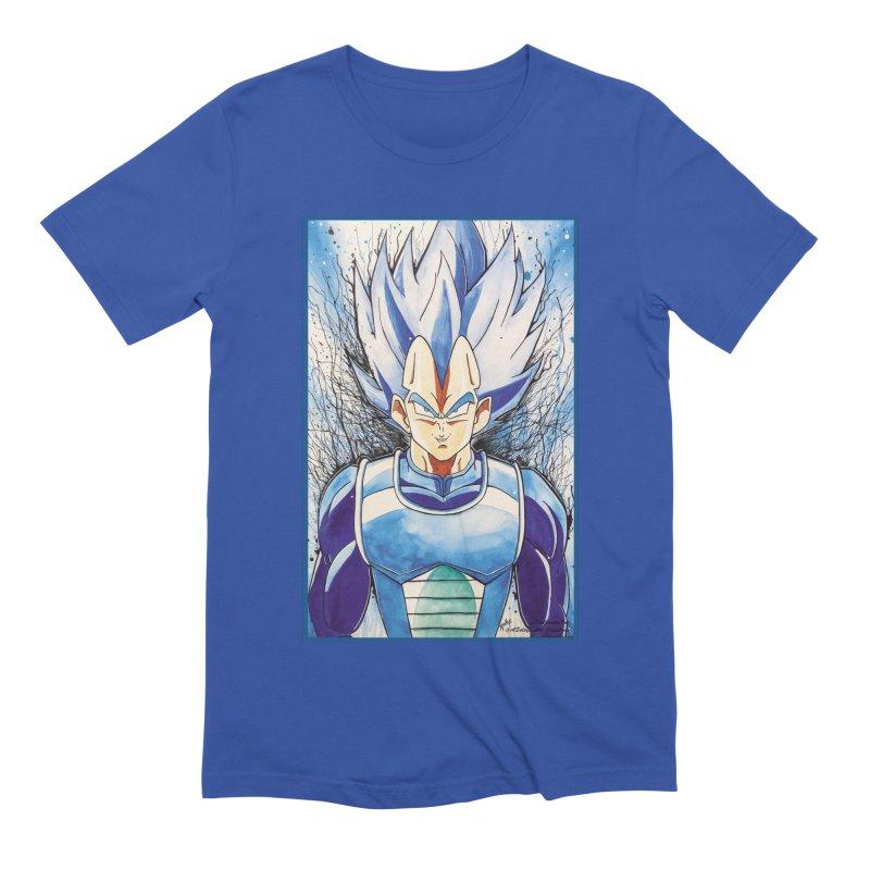 Vegeta Super Saiyan Blue Men's Extra Soft T-Shirt by EvoComicsInc's Artist Shop