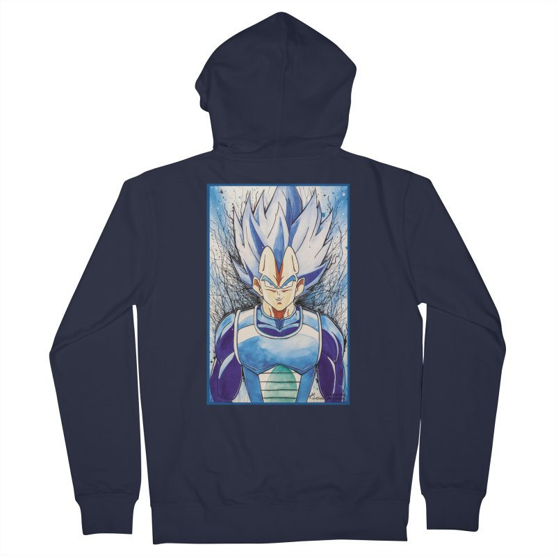 Vegeta Super Saiyan Blue Men's Zip-Up Hoody by Evolution Comics INC
