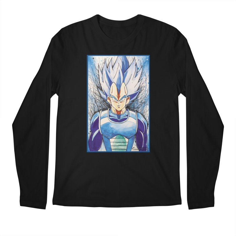 Vegeta Super Saiyan Blue Men's Longsleeve T-Shirt by Evolution Comics INC