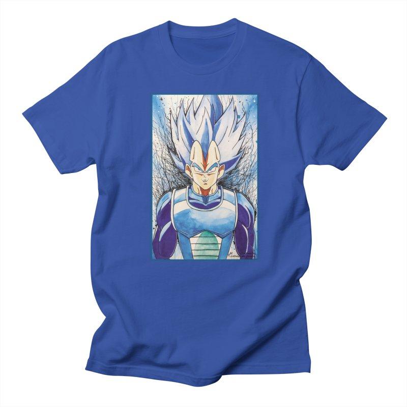 Vegeta Super Saiyan Blue Men's T-Shirt by Evolution Comics INC