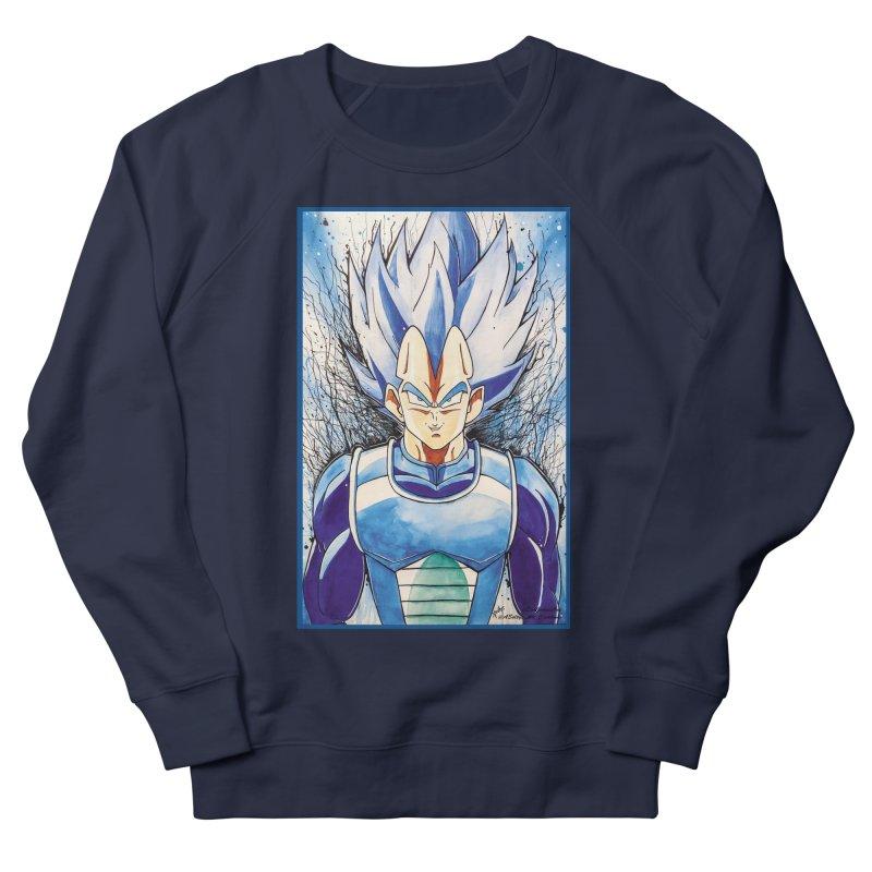 Vegeta Super Saiyan Blue Men's French Terry Sweatshirt by EvoComicsInc's Artist Shop