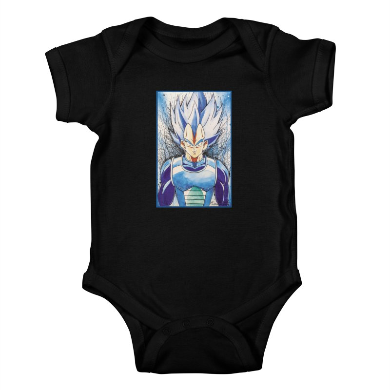 Vegeta Super Saiyan Blue Kids Baby Bodysuit by Evolution Comics INC