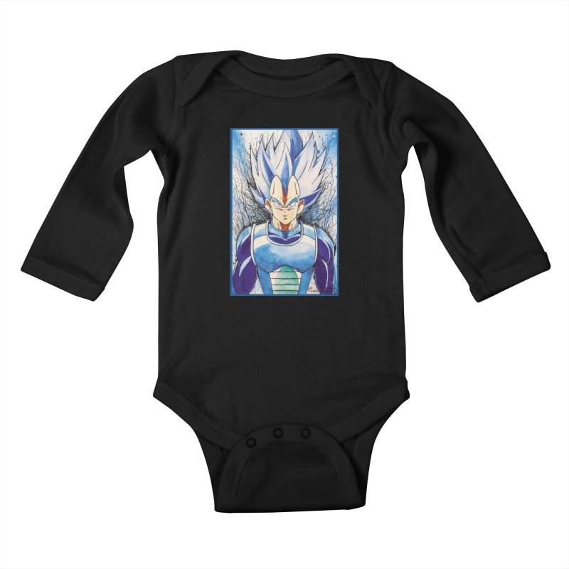Vegeta Super Saiyan Blue Kids Baby Longsleeve Bodysuit by Evolution Comics INC