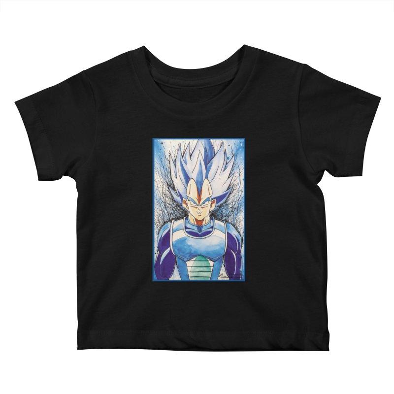 Vegeta Super Saiyan Blue Kids Baby T-Shirt by Evolution Comics INC