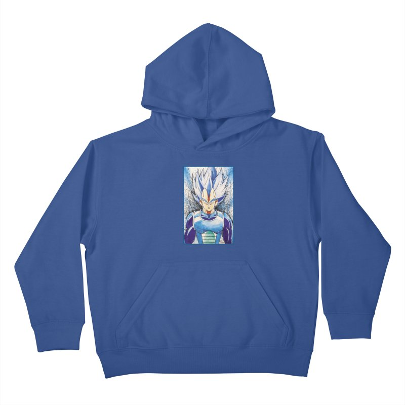 Vegeta Super Saiyan Blue Kids Pullover Hoody by Evolution Comics INC