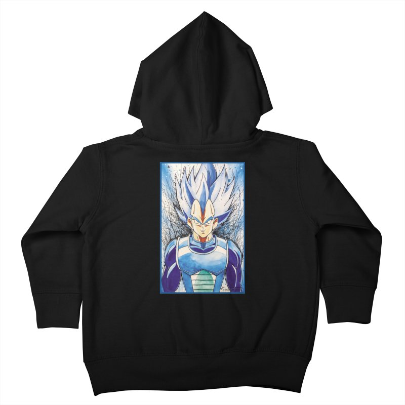 Vegeta Super Saiyan Blue Kids Toddler Zip-Up Hoody by Evolution Comics INC