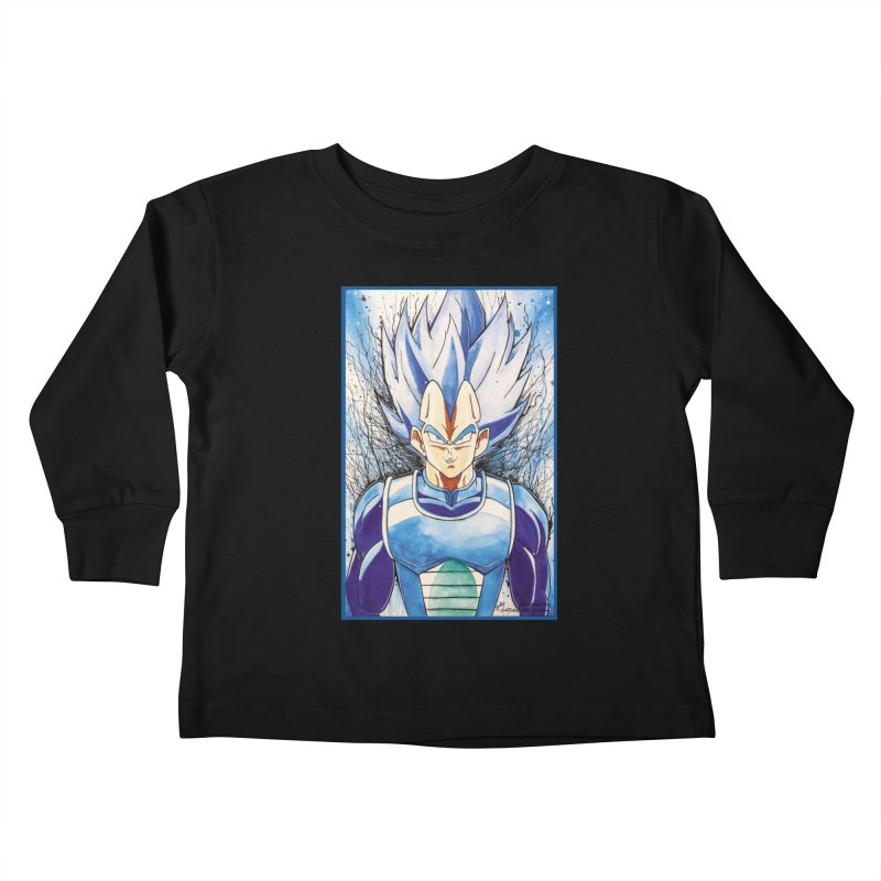 Vegeta Super Saiyan Blue Kids Toddler Longsleeve T-Shirt by Evolution Comics INC