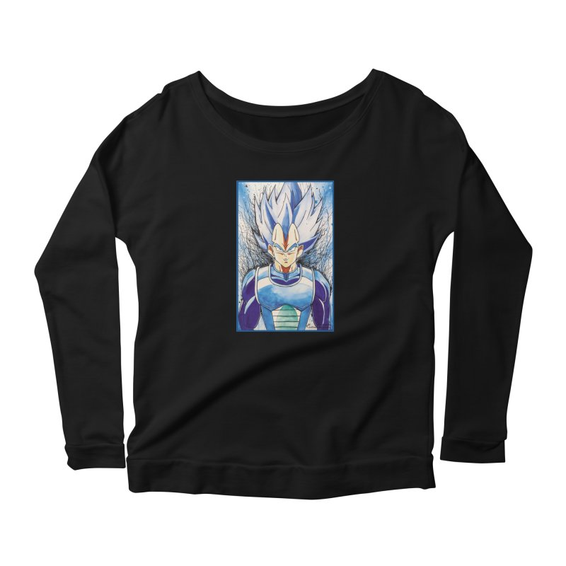 Vegeta Super Saiyan Blue Women's Longsleeve T-Shirt by EvoComicsInc's Artist Shop