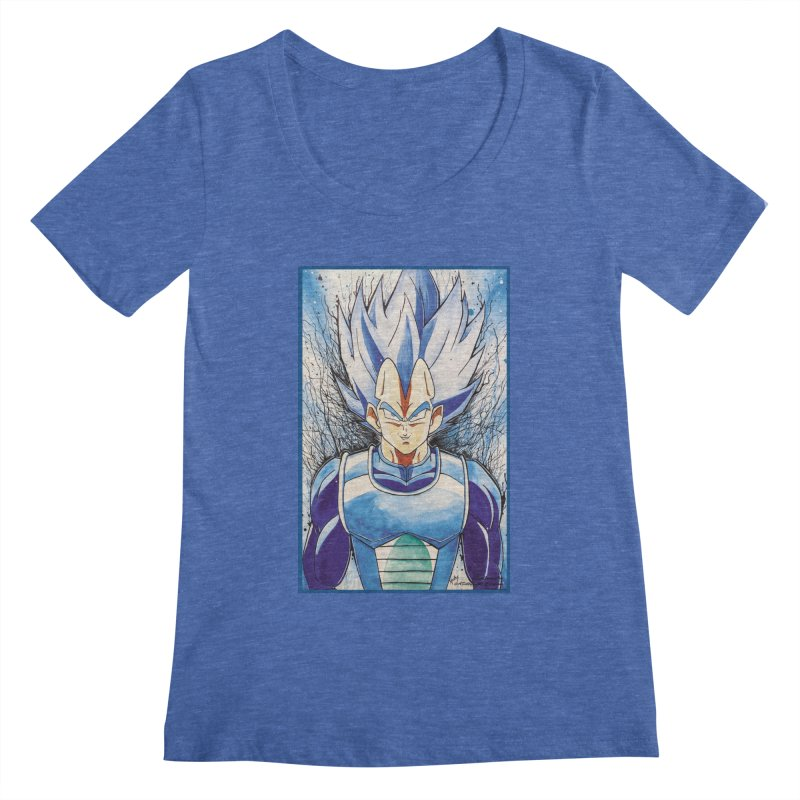 Vegeta Super Saiyan Blue Women's Regular Scoop Neck by Evolution Comics INC