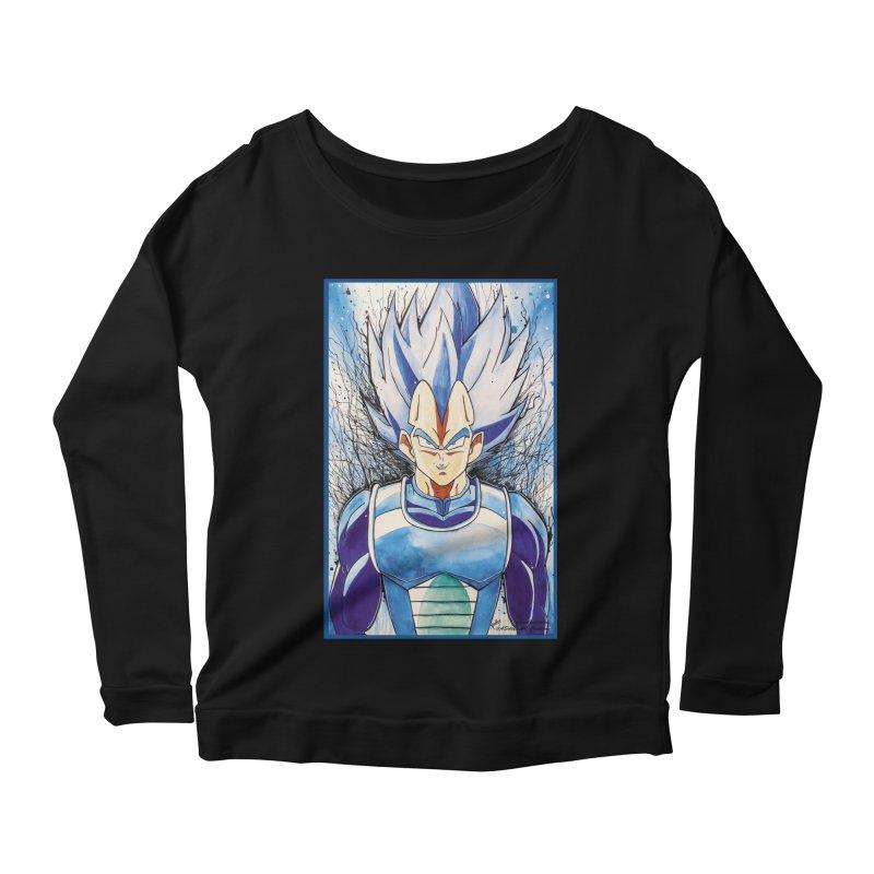 Vegeta Super Saiyan Blue Women's Scoop Neck Longsleeve T-Shirt by EvoComicsInc's Artist Shop