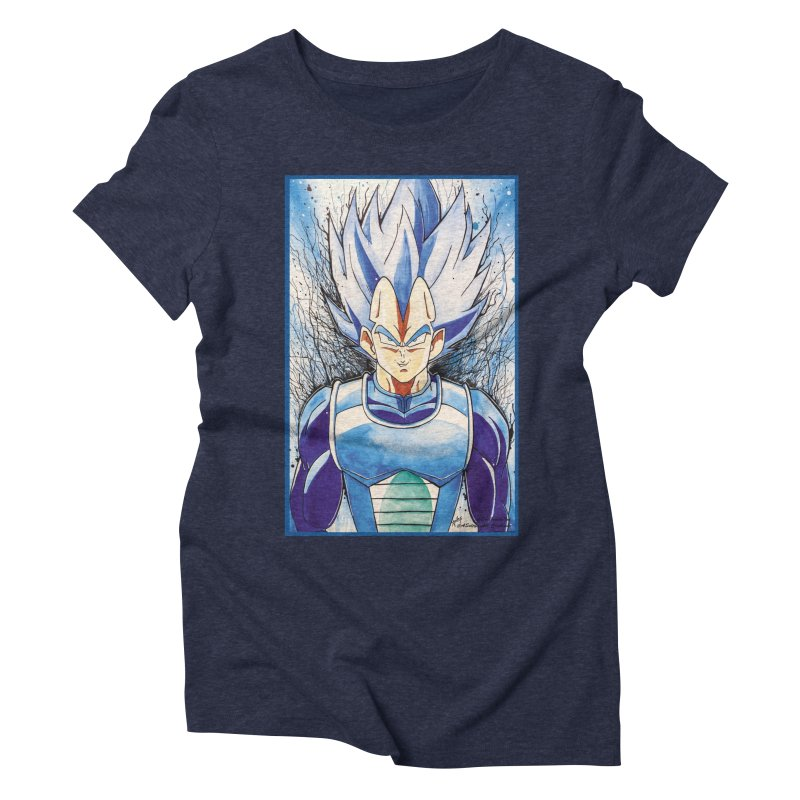 Vegeta Super Saiyan Blue Women's Triblend T-Shirt by Evolution Comics INC