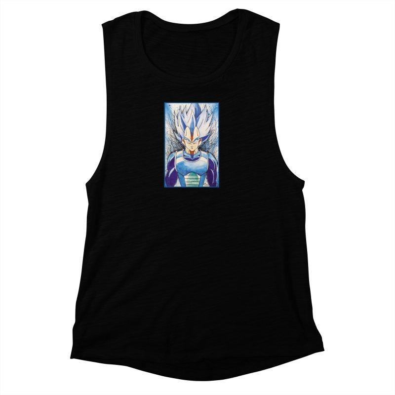 Vegeta Super Saiyan Blue Women's Tank by EvoComicsInc's Artist Shop