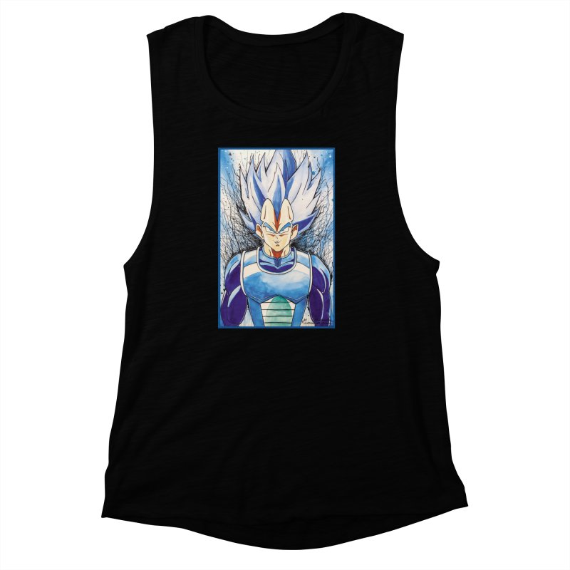 Vegeta Super Saiyan Blue Women's Muscle Tank by EvoComicsInc's Artist Shop