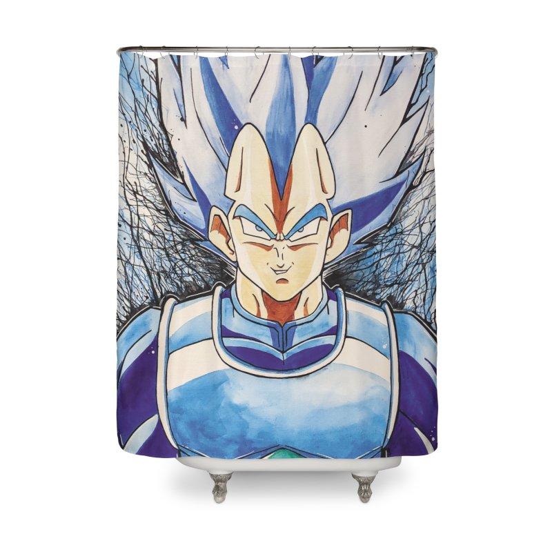 Vegeta Super Saiyan Blue Home Shower Curtain by Evolution Comics INC
