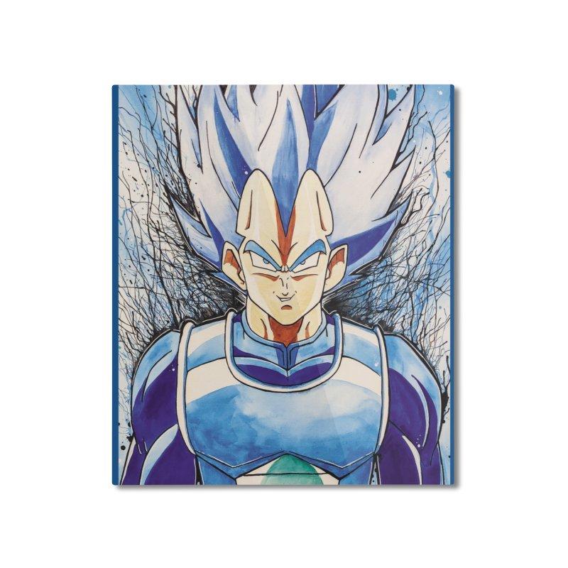 Vegeta Super Saiyan Blue Home Mounted Aluminum Print by EvoComicsInc's Artist Shop
