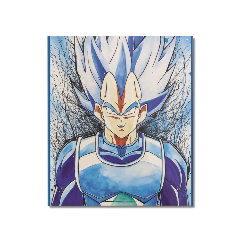 Vegeta Super Saiyan Blue Home Mounted Acrylic Print by EvoComicsInc's Artist Shop